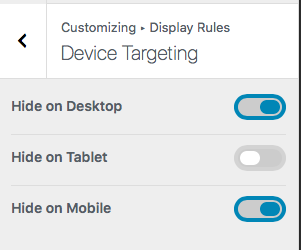Device Targeting